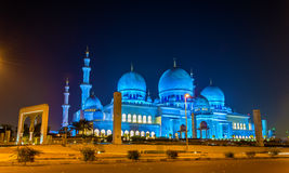 Scheich Zayed Grand Mosque in Abu Dhabi Stockbilder