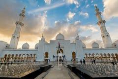 Scheich Zayed Grand Mosque, Abu Dhabi Lizenzfreie Stockbilder