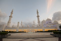 Scheich Zayed Grand Mosque, Abu Dhabi Lizenzfreies Stockfoto