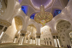 Scheich Zayed Grand Mosque in Abu Dhabi Lizenzfreies Stockfoto