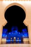 Scheich zayed Moschee in Abu Dhabi, UAE, Mittlerer Osten Lizenzfreies Stockfoto
