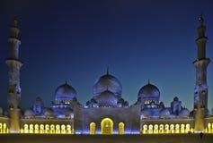 Scheich zayed Moschee UAE lizenzfreie stockfotos