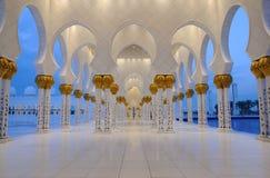 Scheich Zayed Mosque in Abu Dhabi Stockfoto