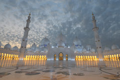 Scheich Zayed Mosque, Abu Dhabi Stockfotos