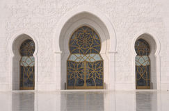 Scheich Zayed Mosque in Abu Dhabi Stockfotografie