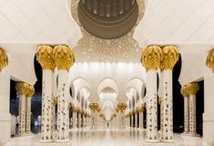 Scheich Zayed Mosque in Abu Dhabi Stockbilder