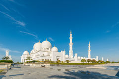 Scheich Zayed Mosque in Abu Dhabi Stockbild