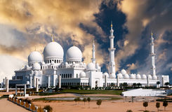 Scheich Zayed Mosque in Abu Dhabi Stockfotos