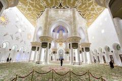 Scheich Zayed Mosque in Abu Dhabi Lizenzfreie Stockfotos