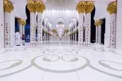 Scheich Zayed Mosque in Abu Dhabi Lizenzfreies Stockbild