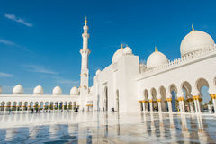 Scheich Zayed Mosque in Abu Dhabi Lizenzfreie Stockfotos
