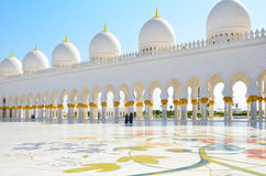 Scheich Zayed Mosque in Abu Dhabi, UAE Stockbilder