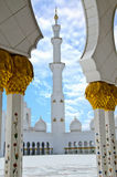 Scheich Zayed Mosque in der Dhabi-Stadt Lizenzfreies Stockfoto
