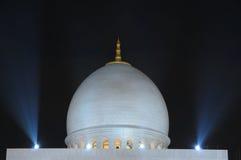 Scheich Zayed Mosque nachts Lizenzfreie Stockfotografie