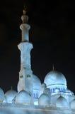Scheich Zayed Mosque nachts Lizenzfreie Stockbilder