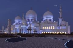 Scheich Zayed Mosque nachts Stockfotografie