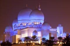 Scheich Zayed Mosque nachts, Abu Dhabi Stockbilder