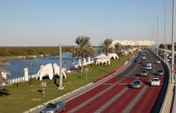 Scheichbehälter Zayed Street, Abu Dhabi Stockfotos