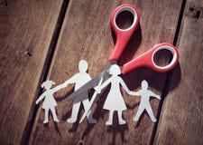 Scheiding en kindbewaring stock foto