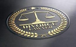 Scheidingsadvocaat Over Black Background vector illustratie