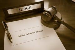 Scheidingsverzoek Royalty-vrije Stock Fotografie