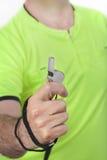 Scheidsrechter Whistle Stock Afbeeldingen