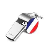 Scheidsrechtersfluitje - Frankrijk Royalty-vrije Stock Foto's