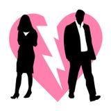 Scheidung gebrochener Paarhintergrund Stockfoto
