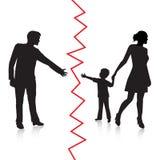 Scheidung und Trennung des Vaters und des Babys Stockfotos