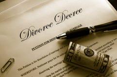 Scheidungpapiere Stockfotos