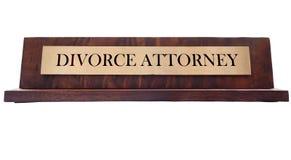 Scheidungs-Namensschild Stockfotos