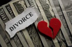 Scheidungsherzkonzept lizenzfreie stockfotos