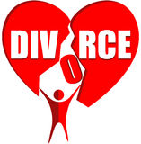 Scheidungslogo Stockbild