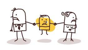 Scheidungspaare mit traurigem Kind lizenzfreie abbildung