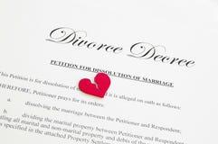 Scheidungverordnung Stockfoto