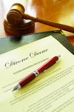 Scheidungverordnung Stockfotos