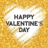 Scheinfunkeln Valentinsgruß-Tagesherz Vektor vektor abbildung