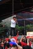 Scheinhängen an einem roten Hemd-Protest in Bangkok Lizenzfreies Stockbild