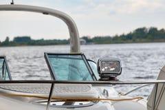 Scheinwerfer auf dem Boot Lizenzfreies Stockbild