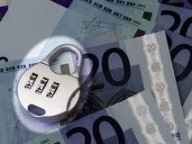 Scheinwerfer auf dem Euro Lizenzfreies Stockbild