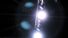 Scheinwerfer auf Stufe Laibungen stock footage