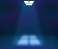 Scheinwerfer-blauer Raum-Hintergrund stock abbildung