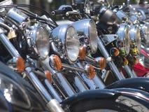 Scheinwerfer der Motorräder Lizenzfreie Stockfotografie
