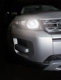 Scheinwerfer der prestigevollen Autonahaufnahme Lizenzfreies Stockbild
