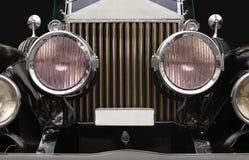 Scheinwerfer des antiken Autos Stockbild