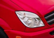Scheinwerfer des roten Autos Lizenzfreie Stockfotografie