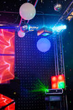 Scheinwerfer in einem Konzert Stockbild