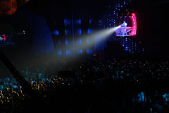 Scheinwerfer im Nachtclub Lizenzfreie Stockfotos