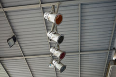 Scheinwerfer installiert auf das Dach Lizenzfreies Stockfoto