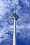 Scheinwerfer- oder Elektrizitätspfosten mit Lautsprecher Stockbild